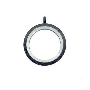 Медальон черен блясък