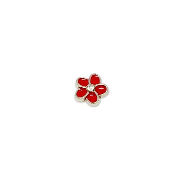 частица-червено-цвете